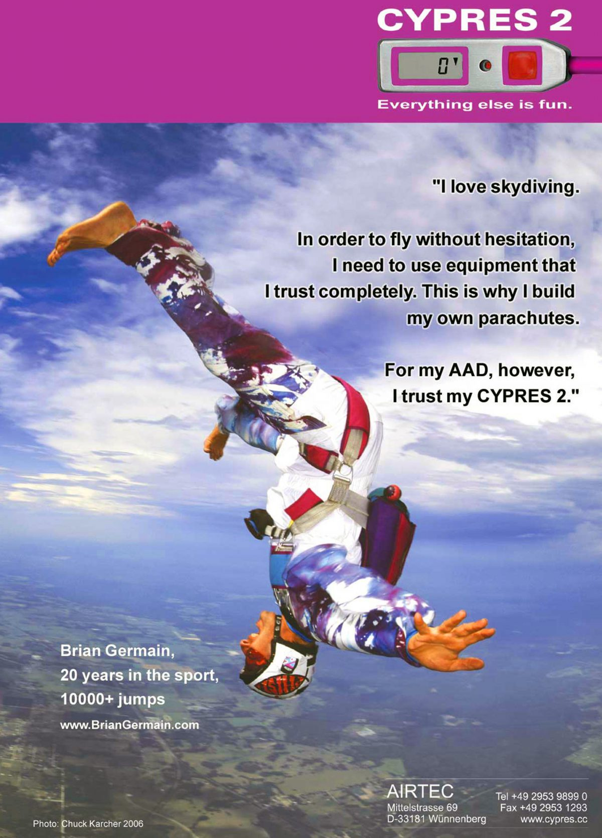 A CYPRES ad from 2006