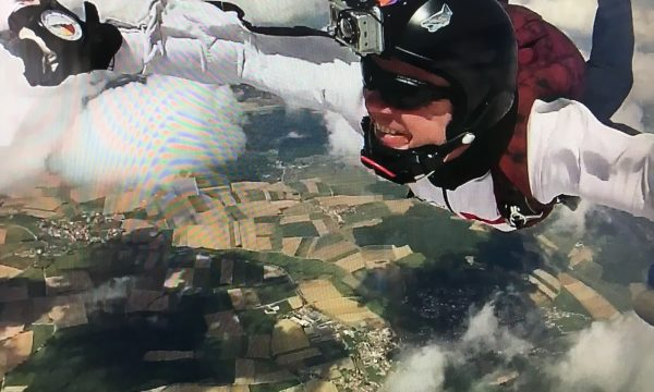 Dr Gobel in free fall