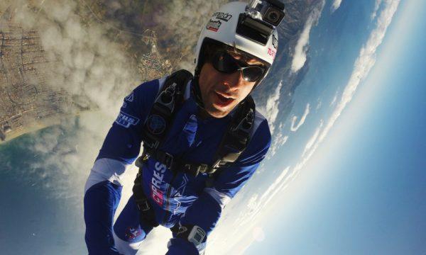 Joel Strickland in freefall