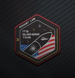 "Rocket Lab Mission Patch ""It's Business Time"""