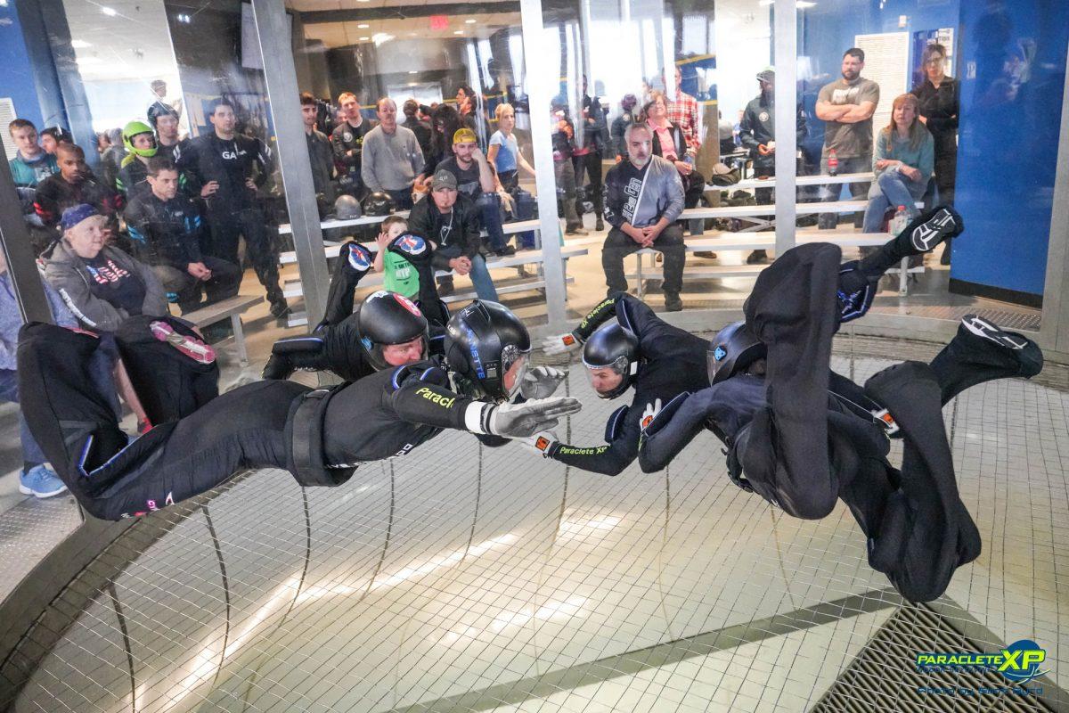 Skydive Rhythm XP flying in the tunnel