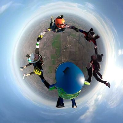 5-Way Round skydive