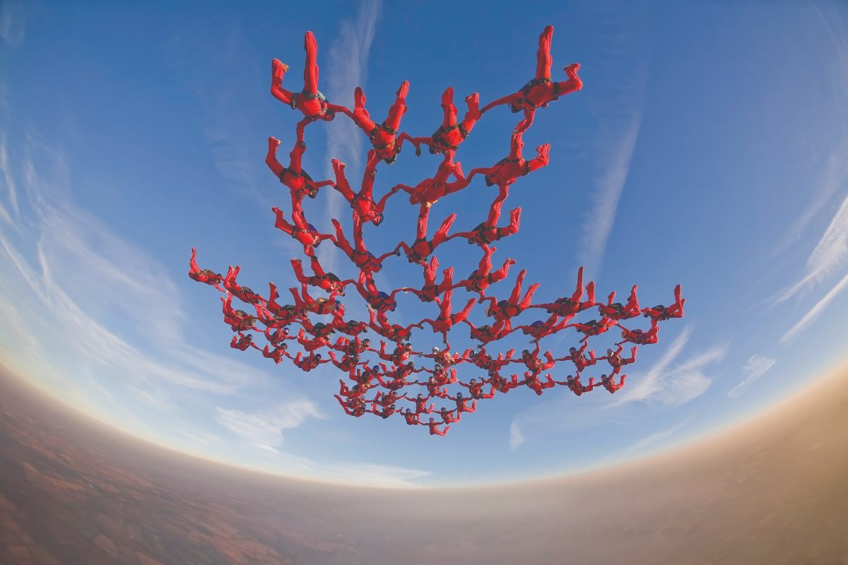 68-Way skydiving formation from 2007.